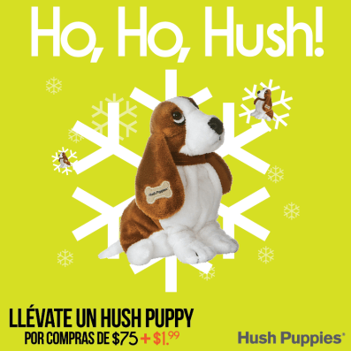 hush puppies promocion peluche